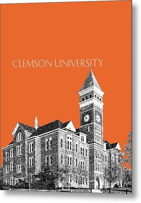 Clemson University - Coral Metal Print by DB Artist