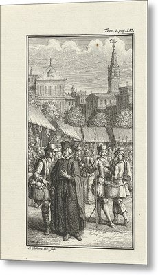 Clergyman Robbed By A Thief, Jacob Folkema Metal Print