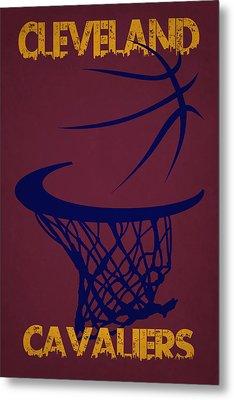 Cleveland Cavaliers Hoop Metal Print by Joe Hamilton
