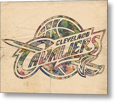 Cleveland Cavaliers Poster Art Metal Print