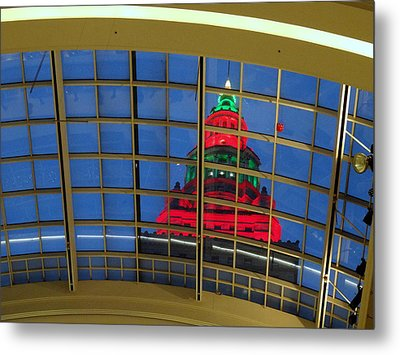 Cleveland Christmas Tower Metal Print