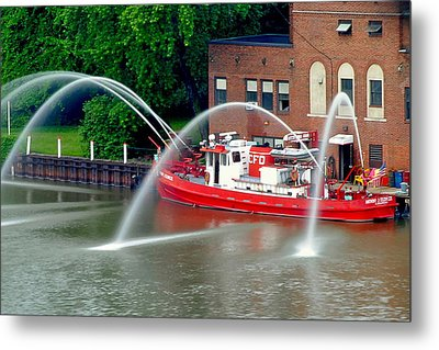 Cleveland Firehouse Metal Print by Frozen in Time Fine Art Photography