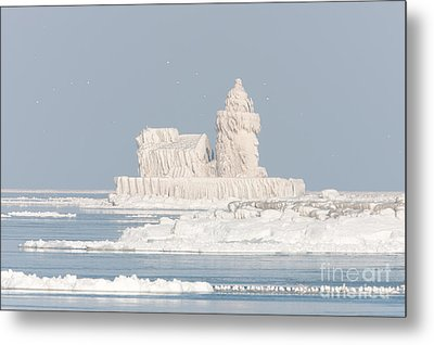 Cleveland Harbor West Pierhead Light II Metal Print by Clarence Holmes