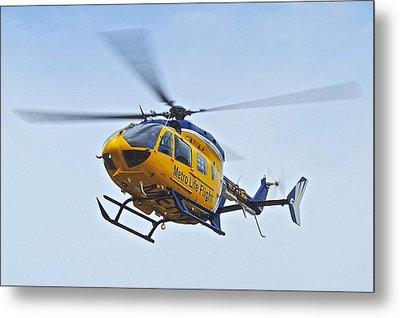 Cleveland Metro Life Flight Metal Print by Frozen in Time Fine Art Photography