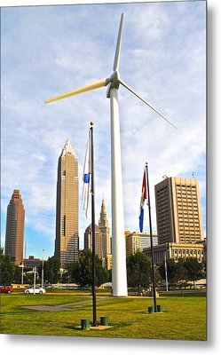 Cleveland Ohio Science Center Metal Print by Frozen in Time Fine Art Photography