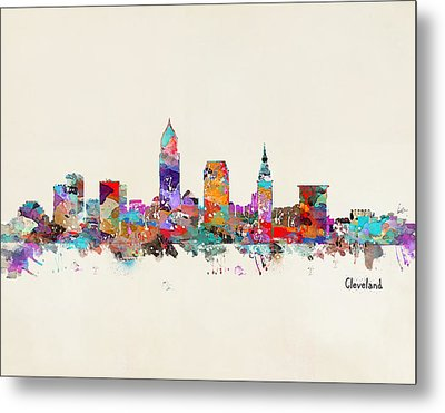 Cleveland Ohio Skyline Metal Print by Bri B