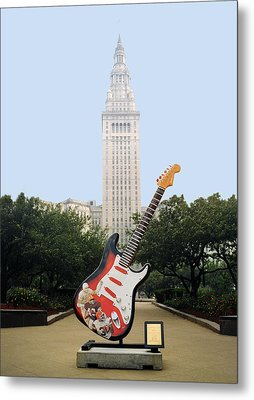 Metal Print featuring the photograph Cleveland Rocks by Terri Harper