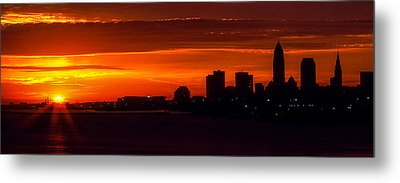 Cleveland Silhouette Metal Print by Dale Kincaid