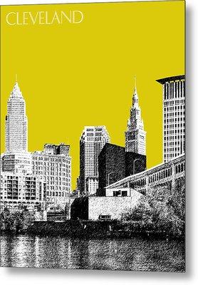 Cleveland Skyline 3 - Mustard Metal Print by DB Artist
