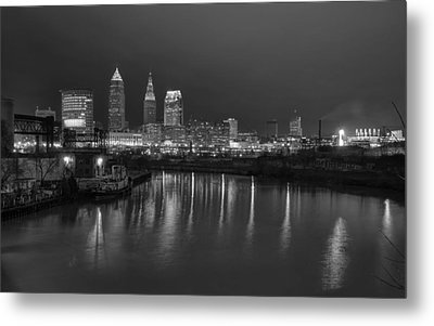 Metal Print featuring the photograph Cleveland Skyline  by Brent Durken