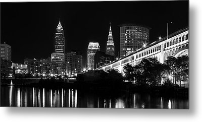Cleveland Skyline Metal Print by Dale Kincaid