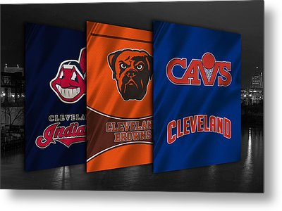 Cleveland Sports Teams Metal Print
