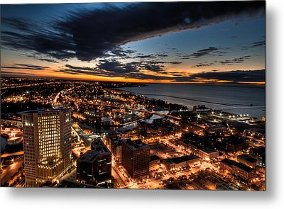 Metal Print featuring the photograph Cleveland Sunset by Brent Durken