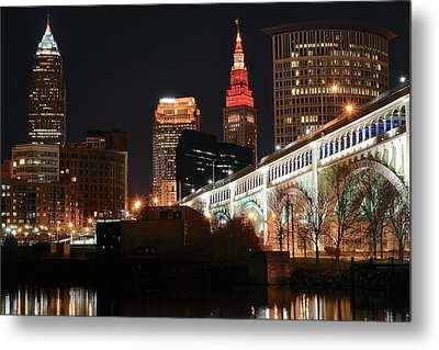 Cleveland Up Close Metal Print by Frozen in Time Fine Art Photography