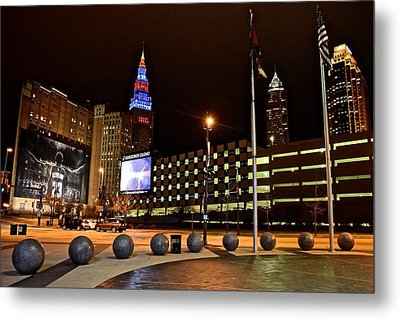 Clevelands Big Three From The Q Metal Print
