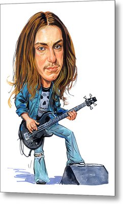 Cliff Burton Metal Print