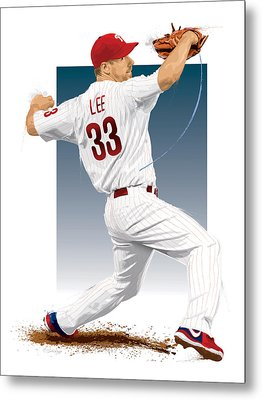 Cliff Lee Metal Print by Scott Weigner