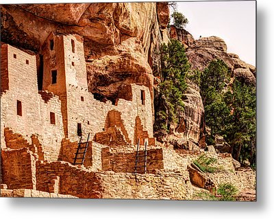 Cliff Palace Tower And Mesa Verde - National Park - Colorado Metal Print by Gregory Ballos
