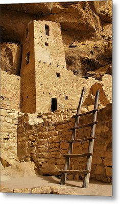 Cliff Palace Tower At Mesa Verde Nhs Metal Print by Gregory Ballos