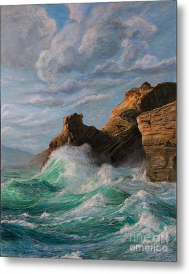 Cliffs End Metal Print by Jeanette Sacco-Belli