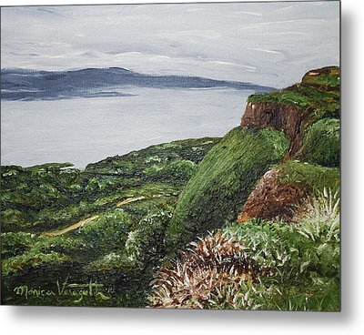 Cliffs Of Magho Metal Print by Monica Veraguth