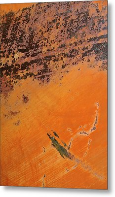 Cliffs Of Mars Metal Print by Fran Riley