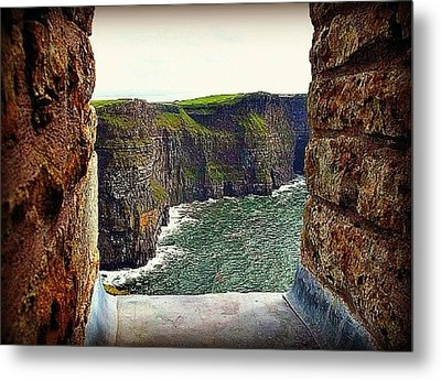 Cliffs Of Moher From O'brien's Tower Metal Print by Tara Potts