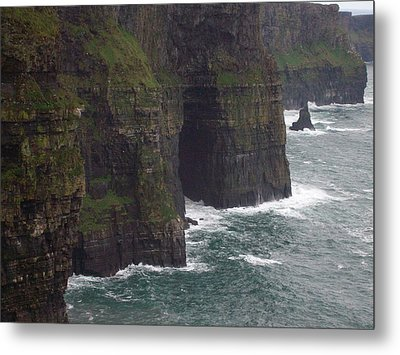 Metal Print featuring the photograph Cliffs Of Moher Ireland by Alan Lakin