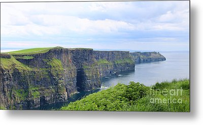 Cliffs Of Moher Panorama 3 Metal Print