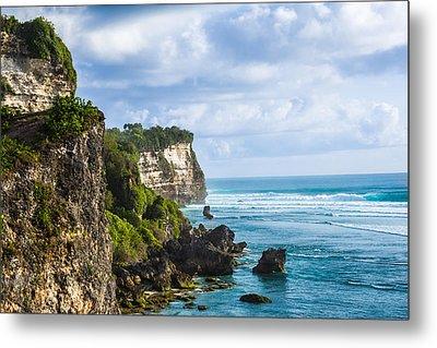 Cliffs On The Indonesian Coastline Metal Print