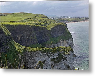 Cliffside Antrim Ireland Metal Print