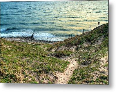 Cliffside Path Metal Print