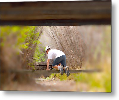 Climb On Over Metal Print