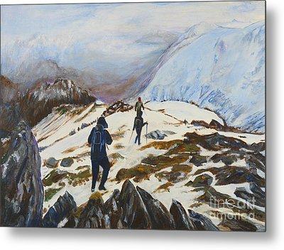 Climbers - Painting Metal Print