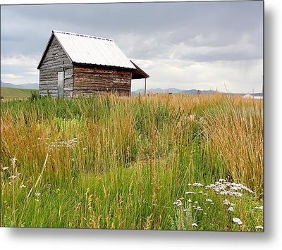 Cline Ranch Outbuilding II Metal Print by Lanita Williams