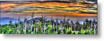 Clingmans Sunset Panoramic Metal Print