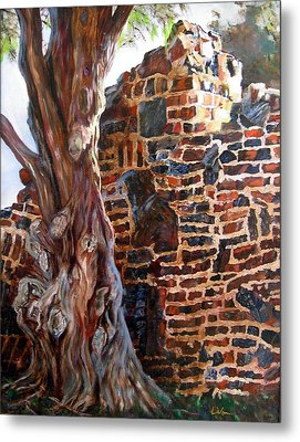 Clinker Wall Metal Print by LaVonne Hand