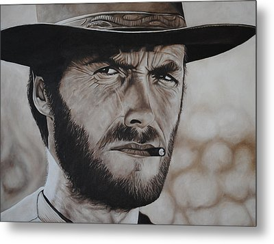 Clint Eastwood Metal Print by David Dunne