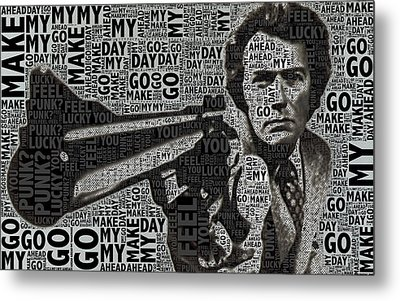 Clint Eastwood Dirty Harry Metal Print