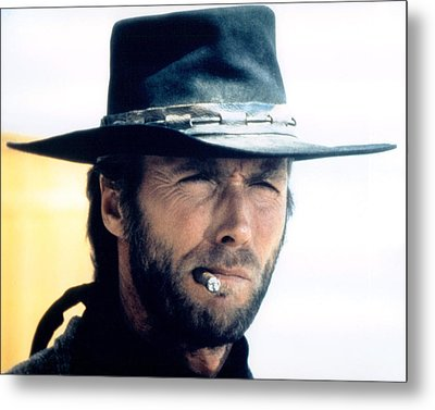 Clint Eastwood In High Plains Drifter  Metal Print by Silver Screen