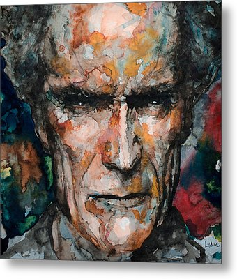 Clint Eastwood Metal Print