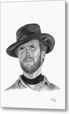 Clint Eastwood Metal Print by Patricia Hiltz