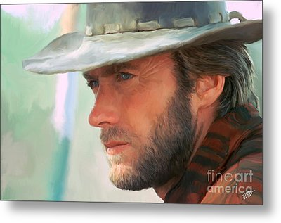 Clint Eastwood Metal Print by Paul Tagliamonte