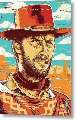 Clint Eastwood Pop Art Metal Print