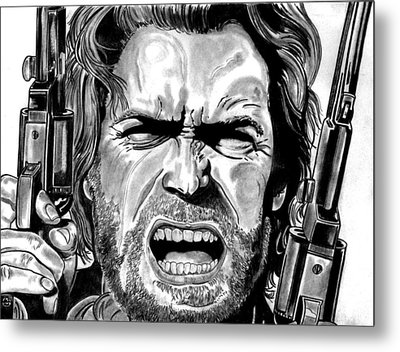 Clint Eastwood Metal Print by Ralph Harlow
