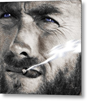 Clint Eastwood Western Metal Print