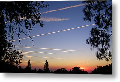 Cloaked Airplanes Metal Print