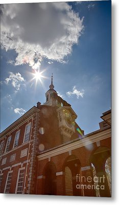 Clock At Independence Hall Metal Print by Kay Pickens