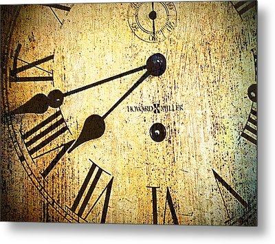 Clock Face Metal Print