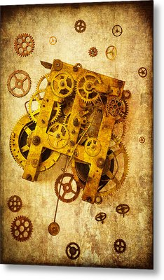 Clock Gears Metal Print
